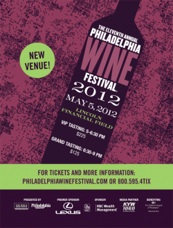 The Eleventh Annual Philadelphia Wine Festival